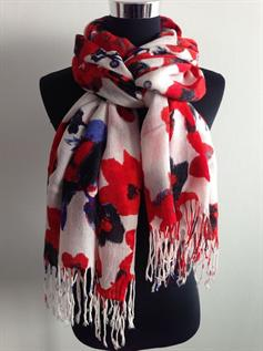 Super soft acrylic scarves with flowers for women bespoke in our china scarf factory