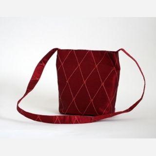 red silk bag