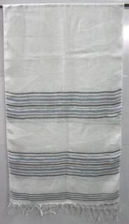 100% Linen, White mix