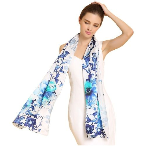 Ladies Silk Digital Printed Wraps