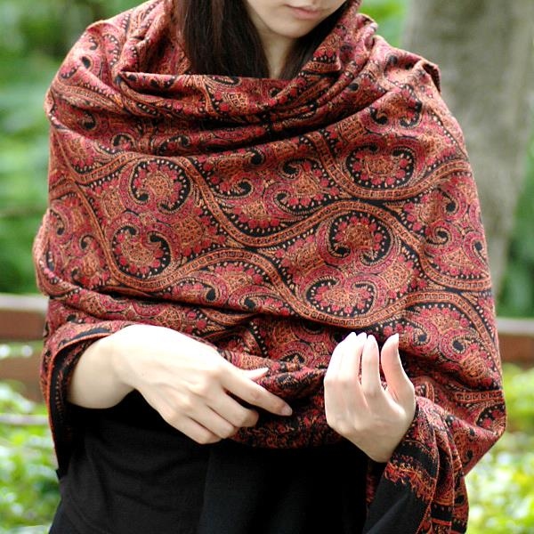 Pashmina Shawls with handmade embroidery.