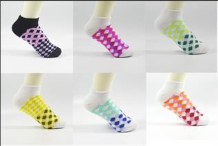 Plaid Low Show Socks