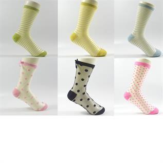 Glass Yarn Lurex Crew Socks