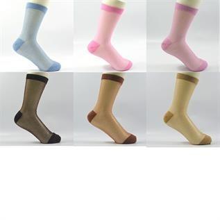 Sheer Multi Crew Socks