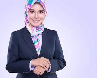 Ladies Pearl Line Hijab