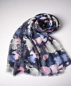 Black Flower Printed Scarves