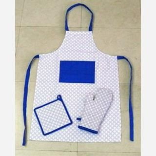 100% Cotton printed Apron, White base with pigment printed, Easy washable