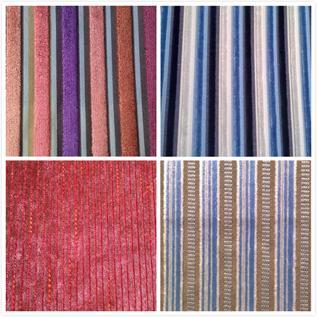 Home Textile Stripe Velvet, four patterns