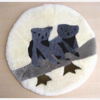 genuine sheepskin, handmade, soft and warm mat
