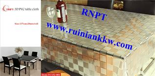 3D embossing table covers