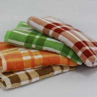 100% Cotton Plaid Bath Towel