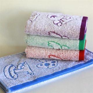 100% cotton mushroom Pattern Face towel