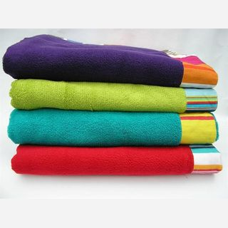 100% Cotton, Knitted, Round with Tassels, Reactive Printing
