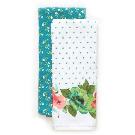 Flower Print Kitchen Towel