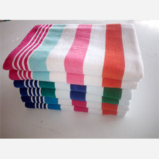 Strip Color Terry Towels
