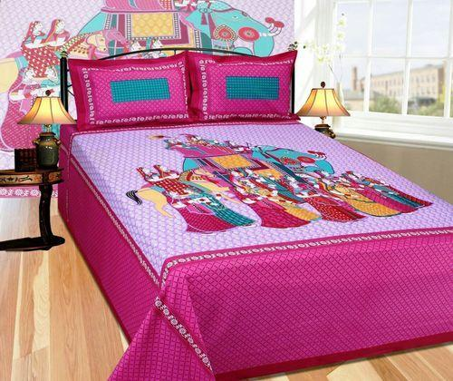 Woven Bed Sheets with 2 set of Pillow Covers