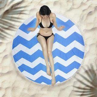 Round Fringed Beach Towels