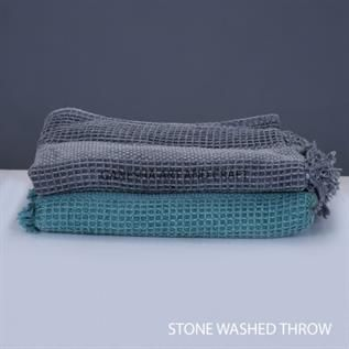 Stone Washed Throw Blankets