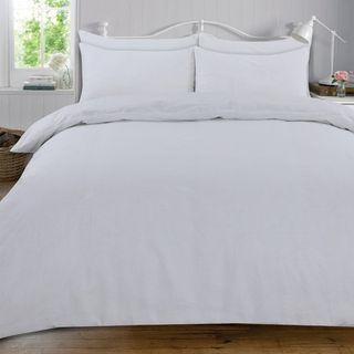 Plain White Double Size Bedsheet