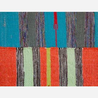 Striped Knotted Rug