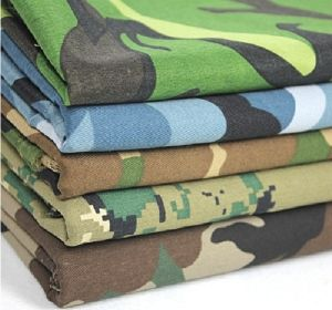 170-250 gsm, 100% Cotton Camouflage Printed , Dyed, Plain