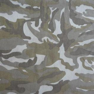 220-240 gsm, 65% Polyester / 35% Cotton Camouflage, Greige, Twill