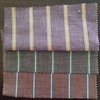 120 GSM, Cotton Rammie, Yarn dyed, Plain