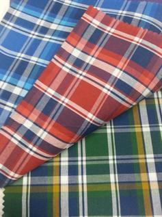 150-180 gsm, 100% Cotton , 80% Cotton / 20% Polyester , 65 % polyester 35 % cotton, Yarn dyed, Plain