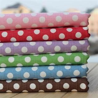 180 gsm, 100% Cotton Polka Dot Print Fabric, Slub fabric, Home Textile, Curtain, cover