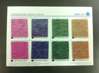 200-280 gsm, 100% Polyester, Melange, Weft knit / Circular knit