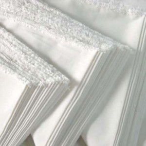 white bleached fabric