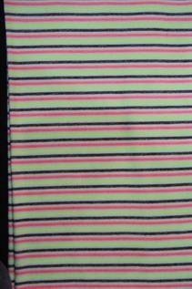 190 GSM, 73% Rayon / 24% Terry / 3% Spandex, Yarn dyed, Warp knit