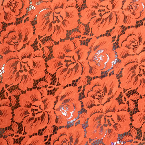 Knitted Jacquard Lace Fabric