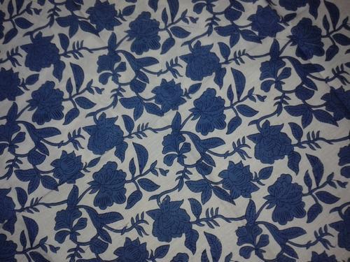 Block Print Indigo Shirting Fabric