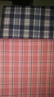 Twill Check Shirting Fabric