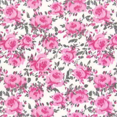 Polyester Flower Print Fabric