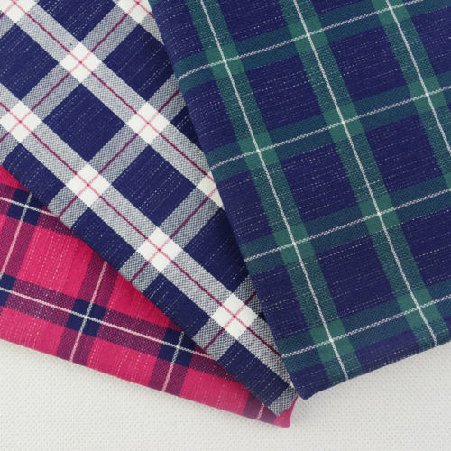 Cotton Indigo Checks Fabric