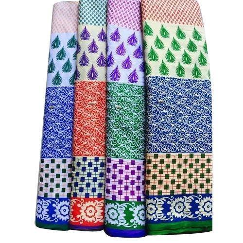 Polyester Cotton Printed Kurti Fabric