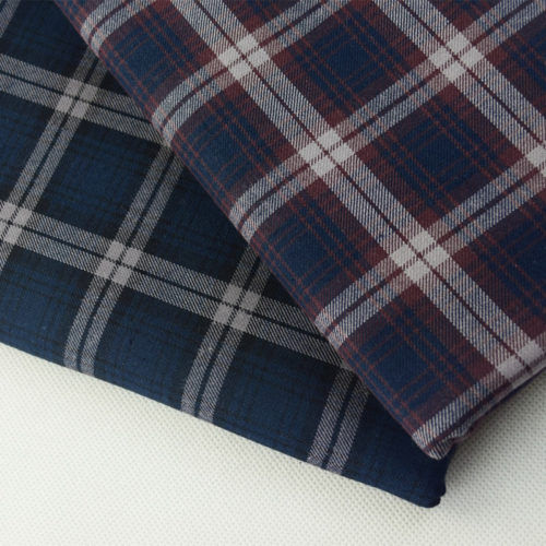 Cotton Indigo Check Fabrics
