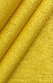 Georgette Yellow Fabric