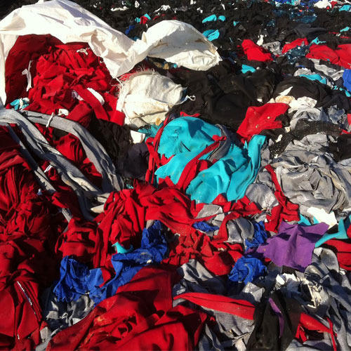 Knitted Cotton Jersey Fabric Waste