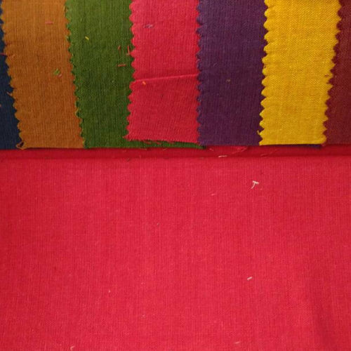 Cotton Slub Plain Fabric