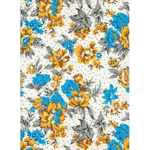 Cotton Printed Blended Fabric