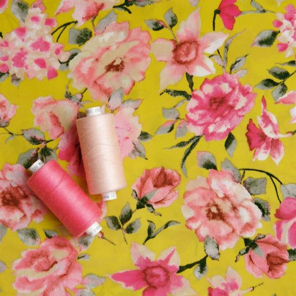 Polyester Woven Peach Skin Printed Fabric