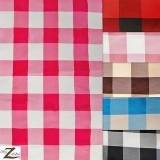 Taffeta Polyester Checks Fabric