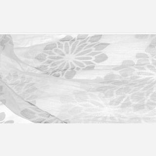 White Shiny Twill Fabric