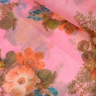Floral Organza Fabric