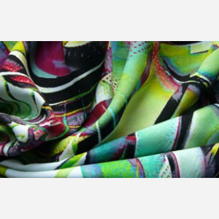 Interlock Floral Printed Knitted Fabric