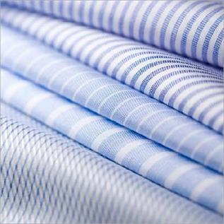 Stripe Design Polyester Viscose Shirting Fabric