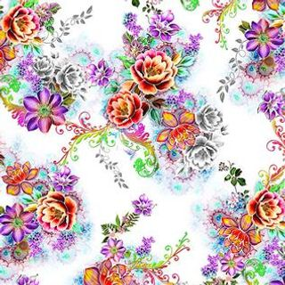Polyester Viscose Digital Printed Fabric